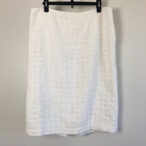 Lafayette 148 New York Pencil Cotton Skirt Size 14